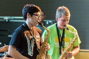 Chris at Jazz Improv. Camp 2014
